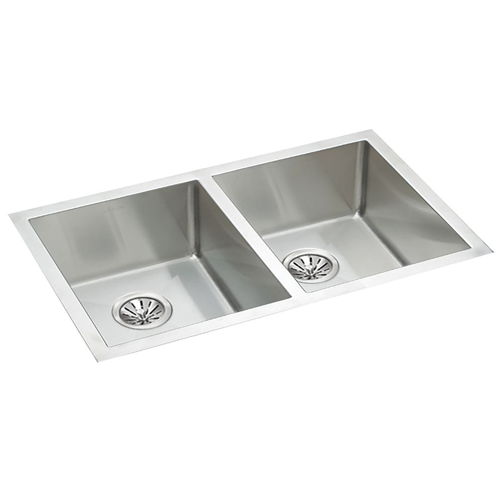 Wessan Stainless Steel Hand-Fabricated Double Bowl Undermount Sink