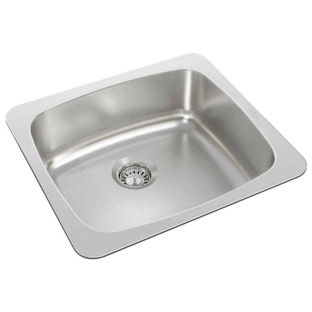 Wessan Single Bowl Drop-in Sink in Stainless Steel