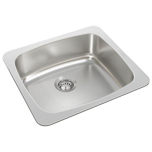 Single Bowl Drop-in Sink in Stainless Steel
