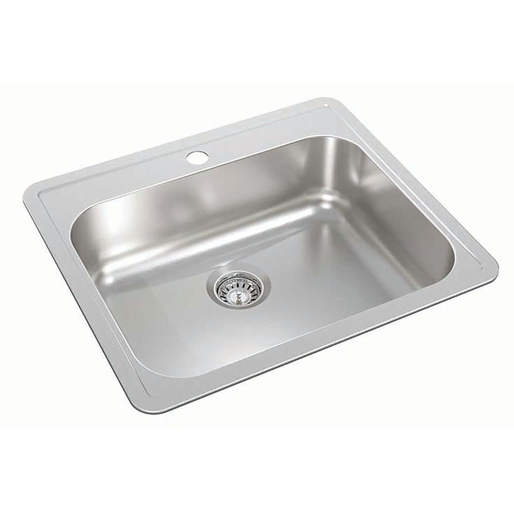 Wessan Stainless Steel Single Bowl Drop-in Sink