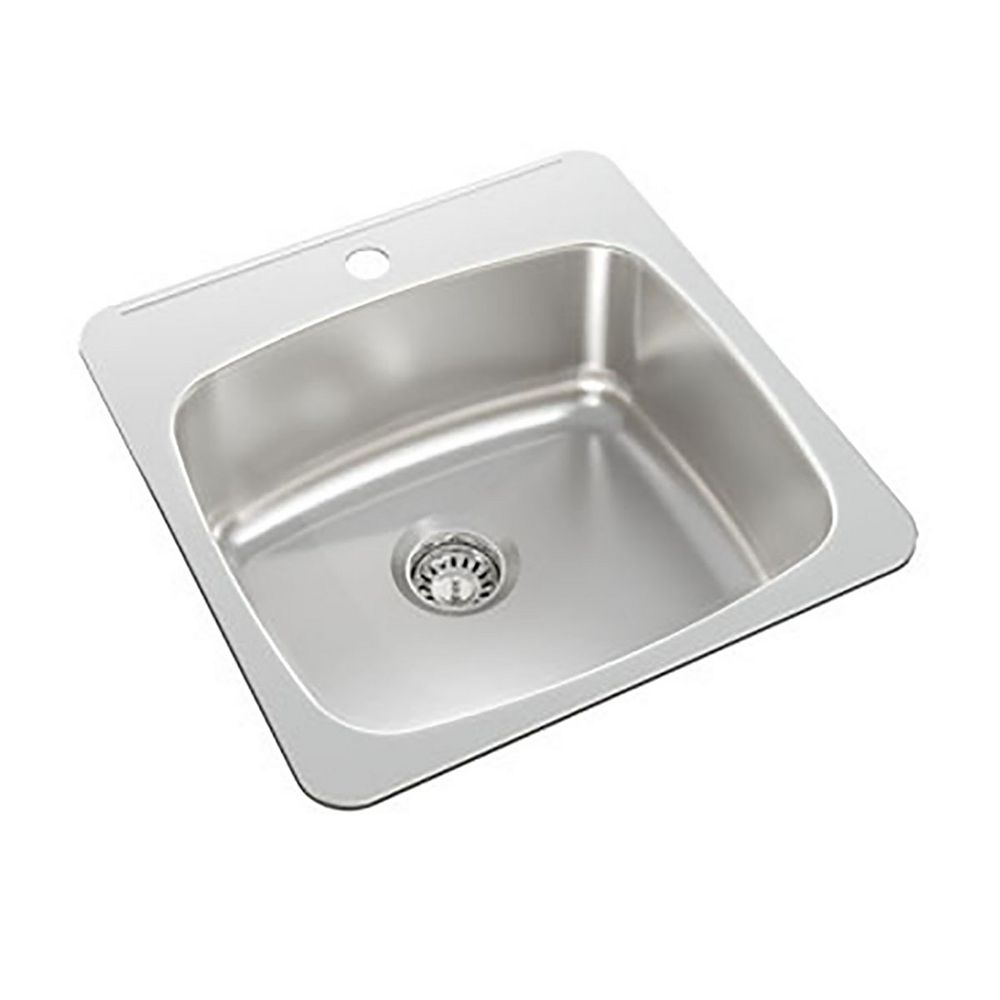 Wessan Single Bowl Drop-in Sink in Stainless Steel