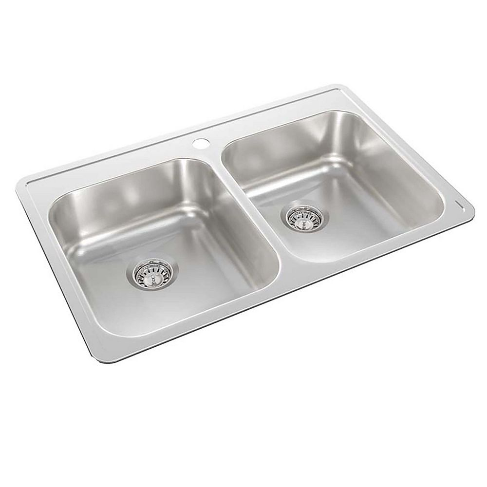 Wessan Stainless Steel Double Bowl Drop-in Sink