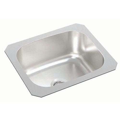 Single Bowl Undermount Bar Sink in Stainless Steel