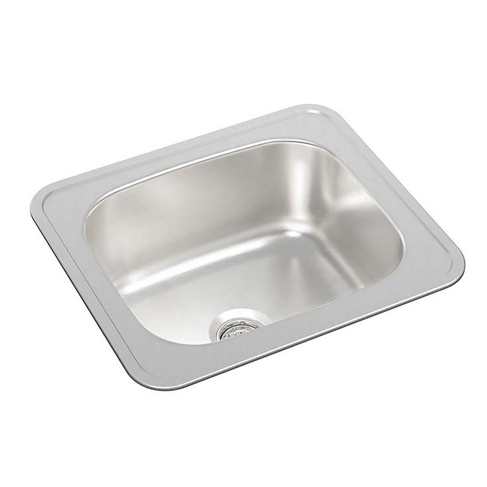 Wessan Single Bowl Drop-in Bar Sink Without a Ledge in Stainless Steel