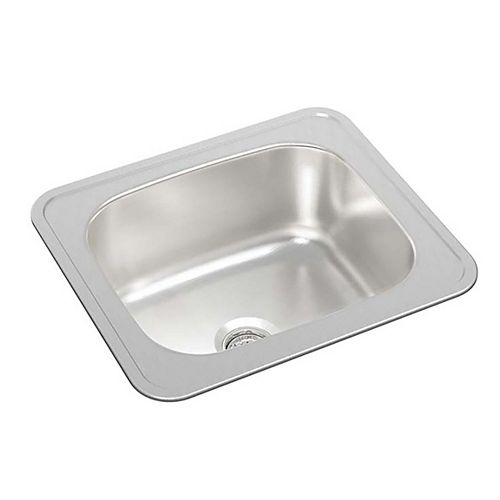 Single Bowl Drop-in Bar Sink Without a Ledge in Stainless Steel