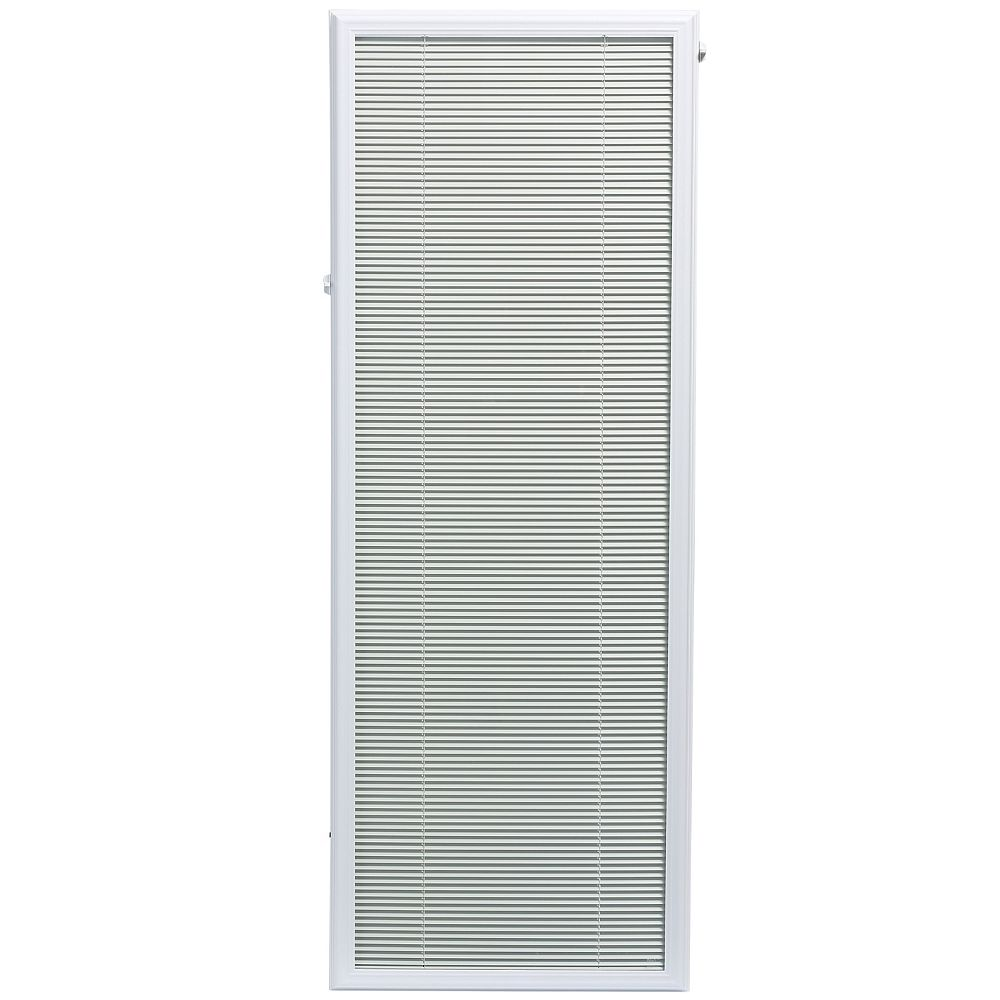 ODL 22-inch x 64-inch White Aluminum Add-on Blind for Full View Doors