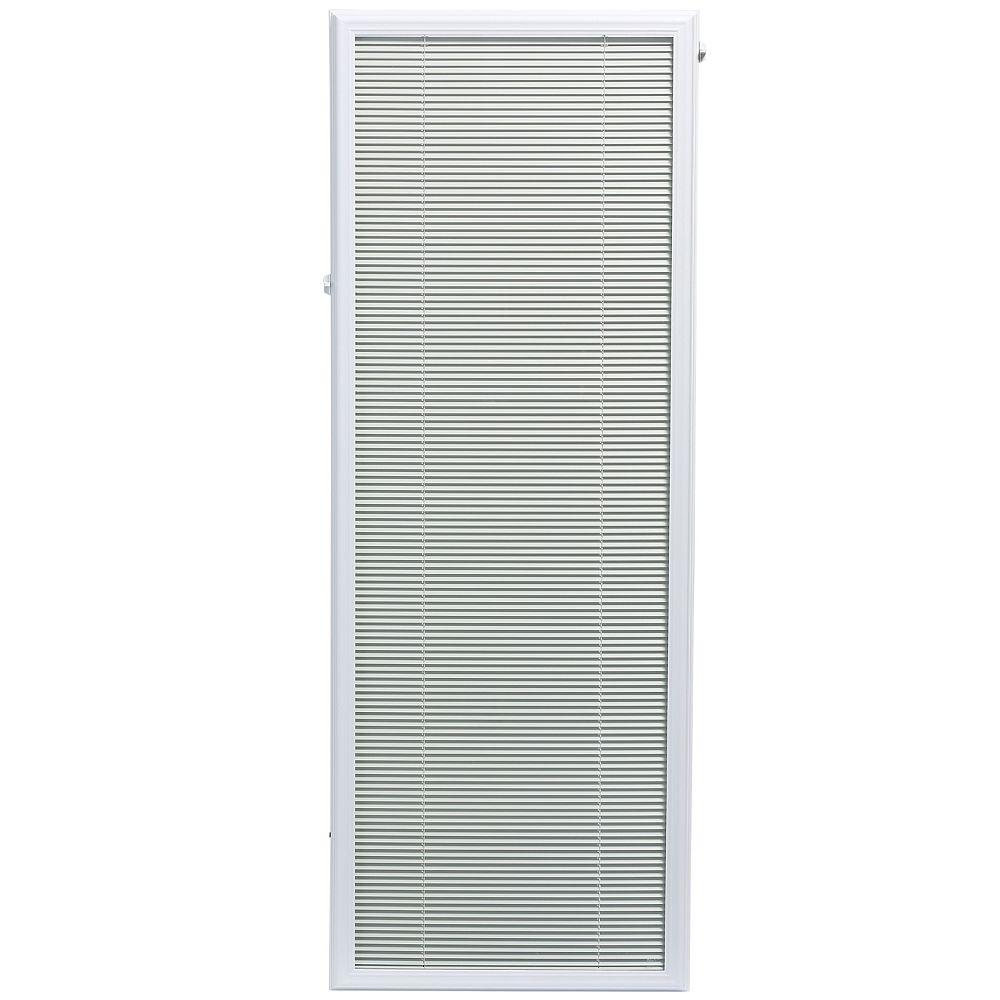 ODL 22-inch x 64-inch White Aluminum Add-on Blind for Full ...