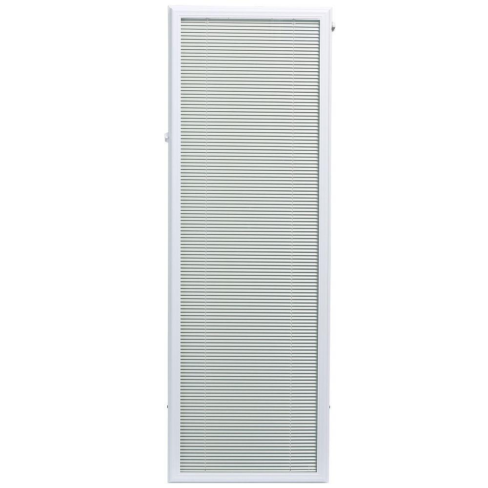 ODL Store vénitien complémentaire en aluminium blanc pour portes vitrées de 20 po x 64 po