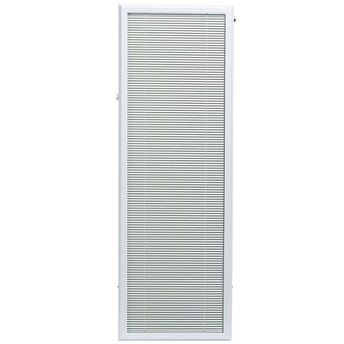 20-inch x 64-inch White Aluminum Add-on Blind for Full Light Door