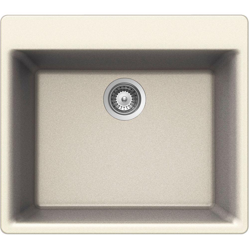 Wessan Granite Single Bowl Drop-in Sink in Magnolia
