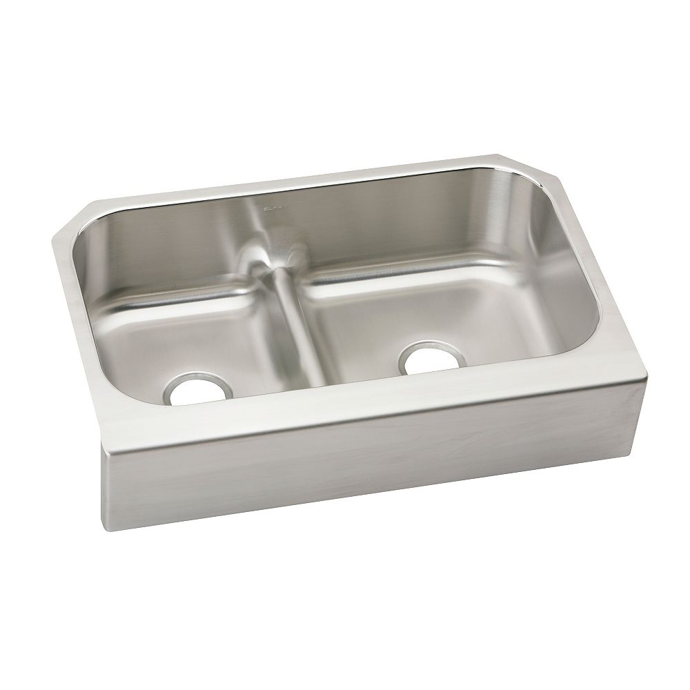 Wessan Double Bowl Undermount - 23.0625 Inch x 34.625 Inch x 8.75 deep