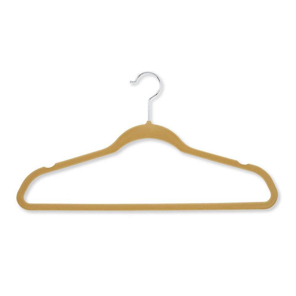 Honey-Can-Do Velvet Touch Suit Hanger, Tan (50-Pack)