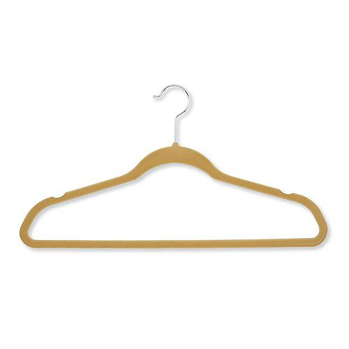 Velvet Touch Suit Hanger, Tan (50-Pack)