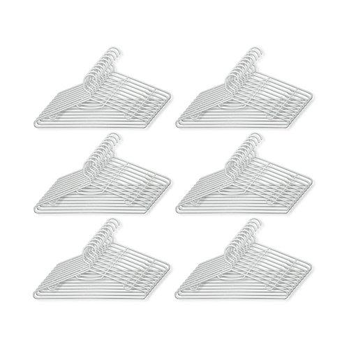 Jeu de 60 cintres tubulaires et légère en plastique recyclé, blanc