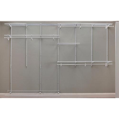 7 - 10 ft. Adjustable Organizer Kit - White