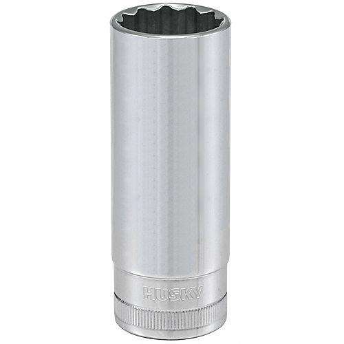 Douille avec entraînement 1/2 pouce, 21 mm, 12 points, profonde, métrique