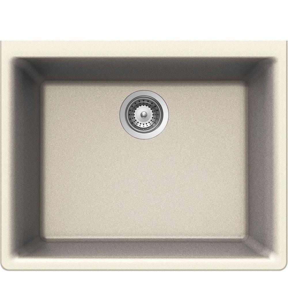 Wessan Granite Single Bowl Undermount Sink in Magnolia