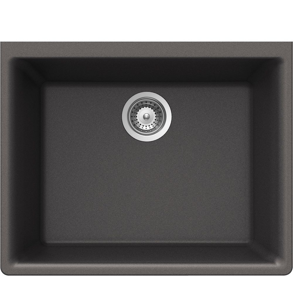 Wessan Granite Single Bowl Undermount Sink in Steel