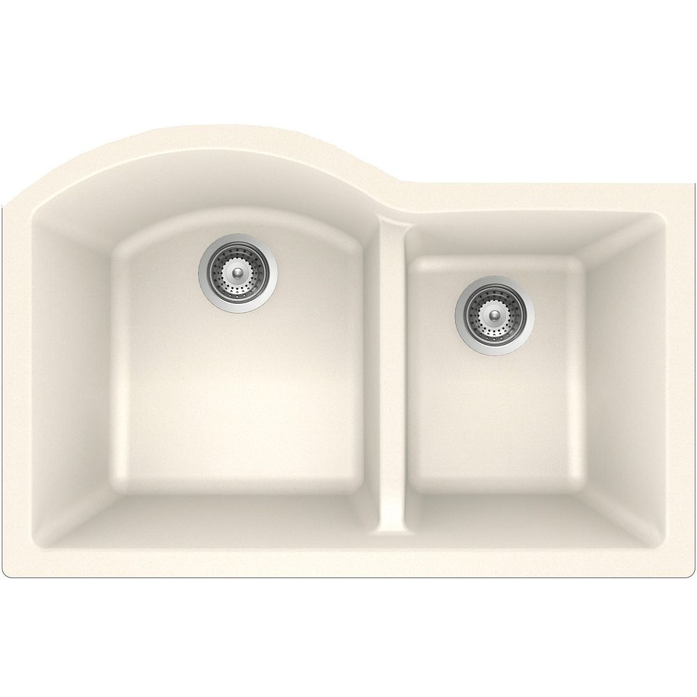 Wessan Granite One and Three-Quarters Bowl Undermount Sink in Magnolia