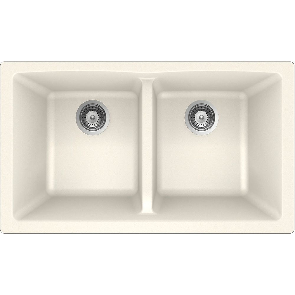 Wessan Granite Double Bowl Undermount Sink in Magnolia