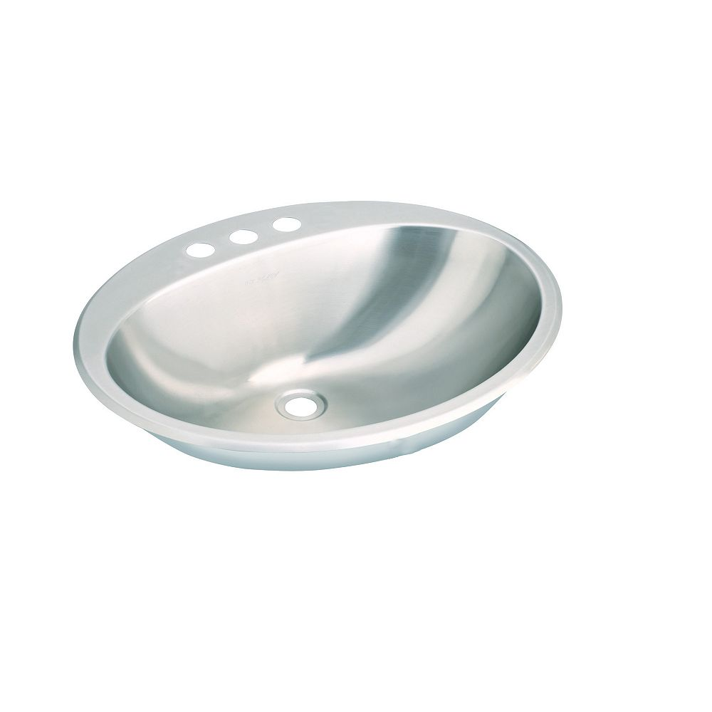 Wessan Stainless Steel Single Bowl Drop-in Lavatory Sink