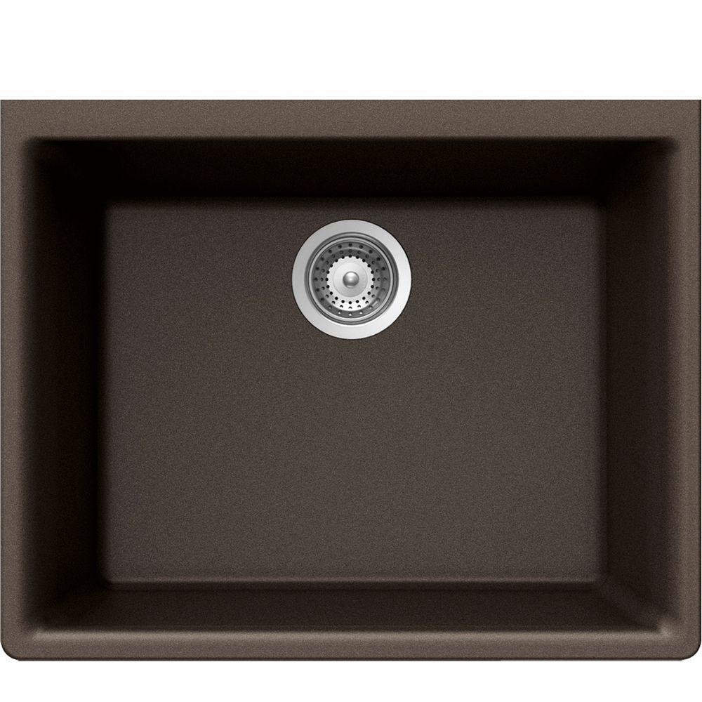 Wessan Granite Single Bowl Undermount Sink in Bronze
