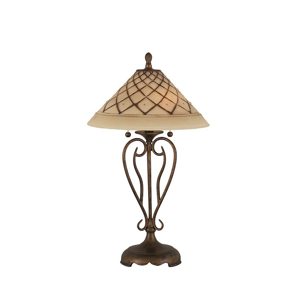Filament Design Concord 16 in Bronze Table Lamp with a Chocolate Icing Glass