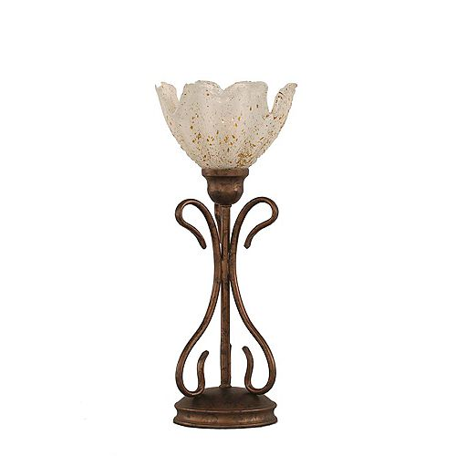 Filament Design Concord 7 in Bronze Table Lamp with a Gold Crystal Glass