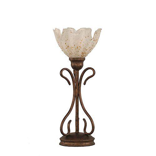 Concord 7 en bronze Lampe de table à incandescence avec un cristal en verre d'or
