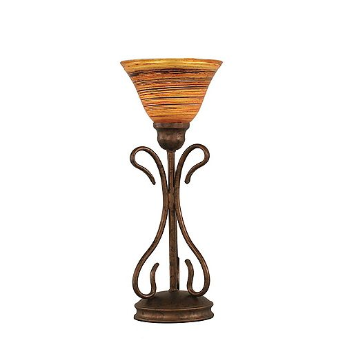 Filament Design Concord 7 en bronze Lampe de table incandescence par une  Saturne verre