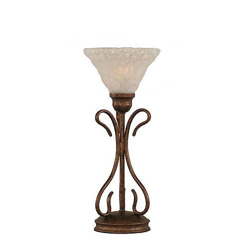 Concord 7 en bronze Lampe de table à incandescence avec un verre cristal
