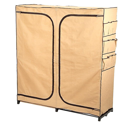 "60"" Double Door Storage Closet with shoe organizer"