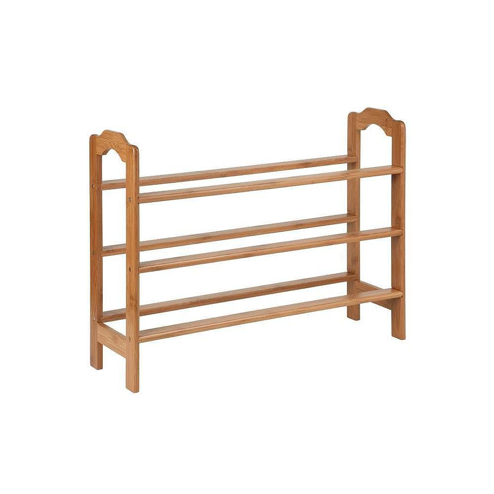 Honey-Can-Do 3-tier bamboo shoe rack