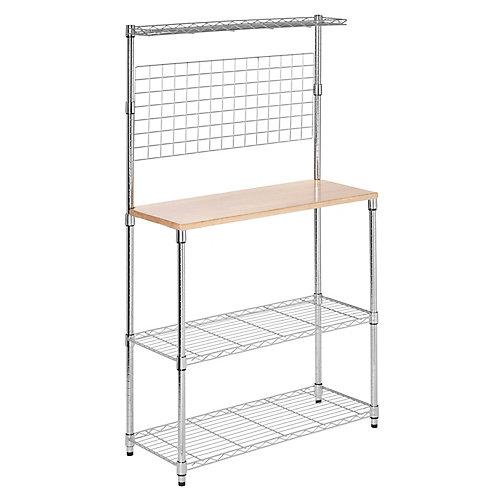 Chrome 2-Shelf Urban Baker's Rack