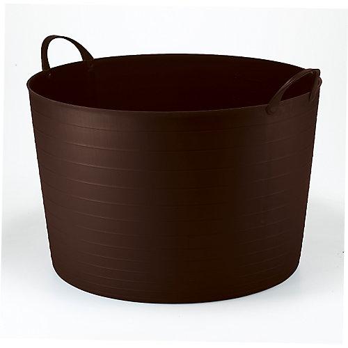Seau rond Flexi classique de 70L - brun