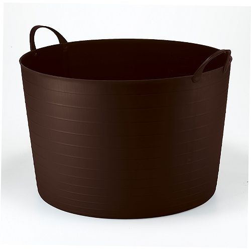 70L Classic Round Flexi Tub - Brown