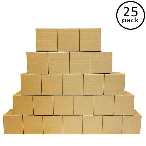 12 Inch x 12 Inch x 12 Inch Multi-Depth 25-Box Bundle