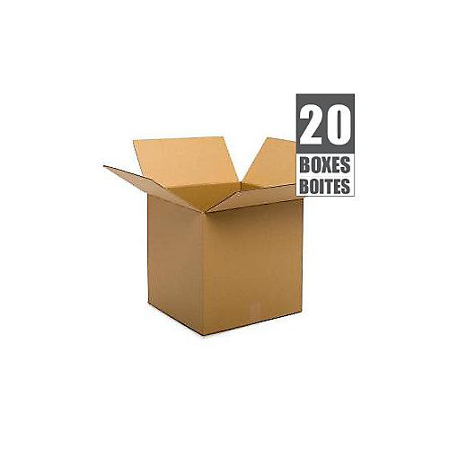 18 Inch  x 18 Inch  x 18 Inch  20-Box Bundle