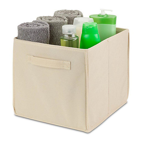 Collapsible Polyester Storage Cube in Natural (4-Pack)