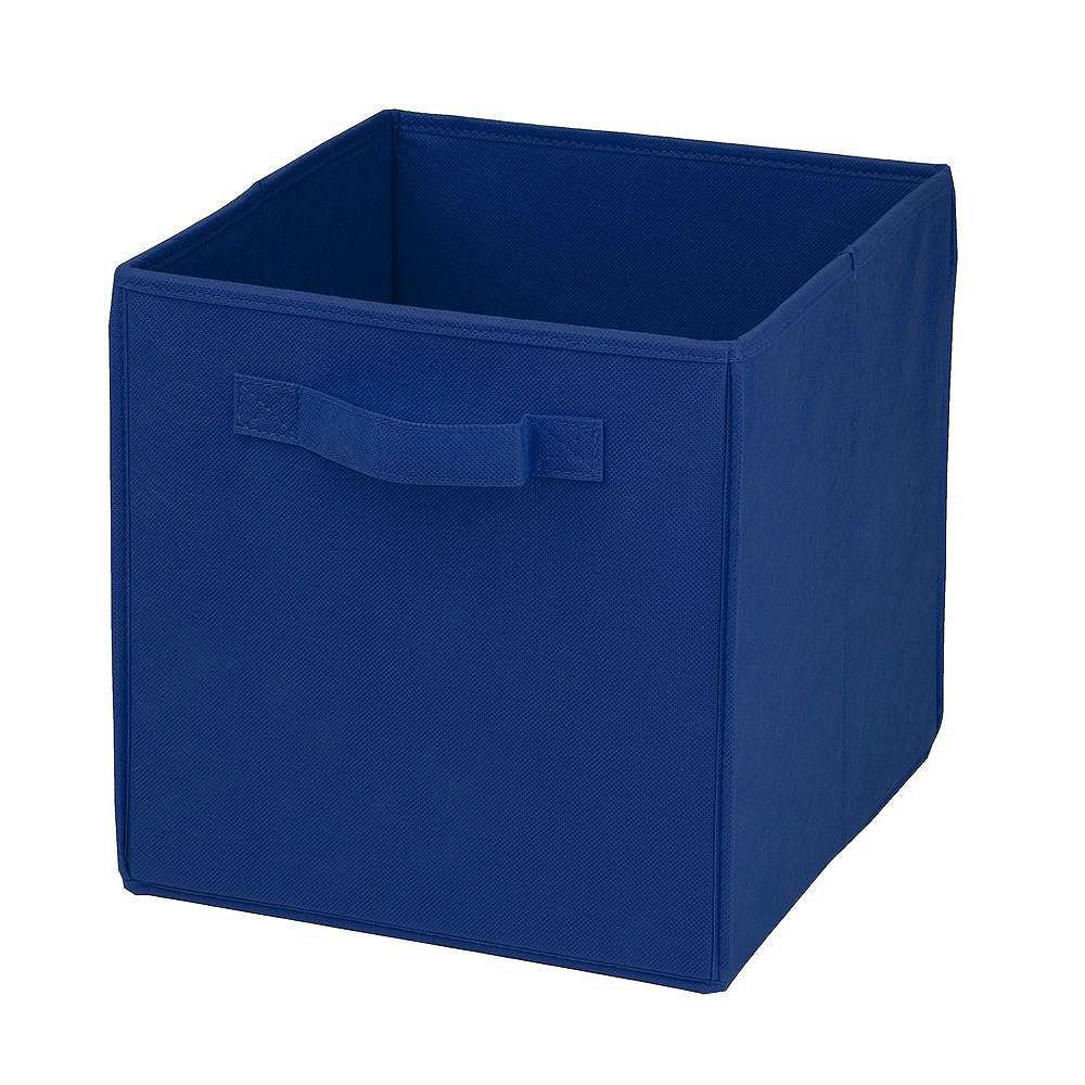 Honey-Can-Do Collapsible Polyester Storage Cube in Blue (4-Pack)