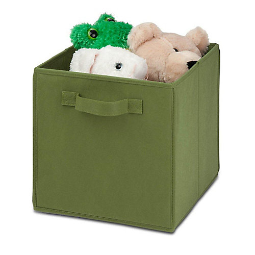 Non-Woven Foldable Cube in Green (4-Pack)