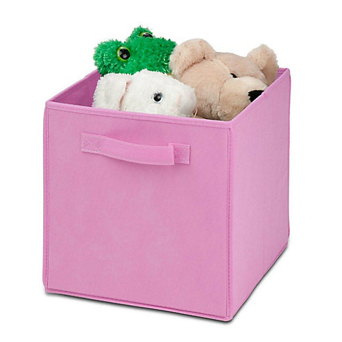 Non-Woven Foldable Storage Cube in Pink (4-Pack)