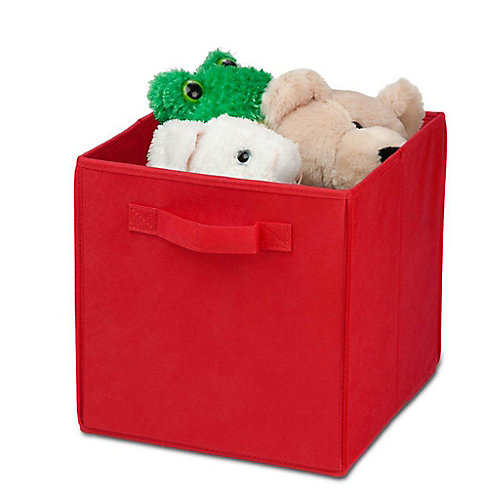 Non-Woven Foldable Storage Cube in Red (4-Pack)