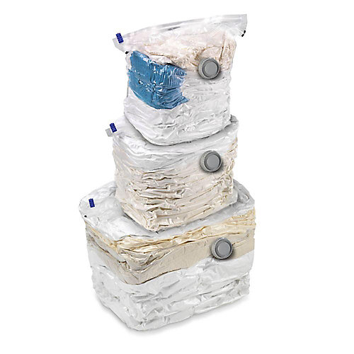 Jeu de sacs de rangement cubiques sous vide, 3/paq.