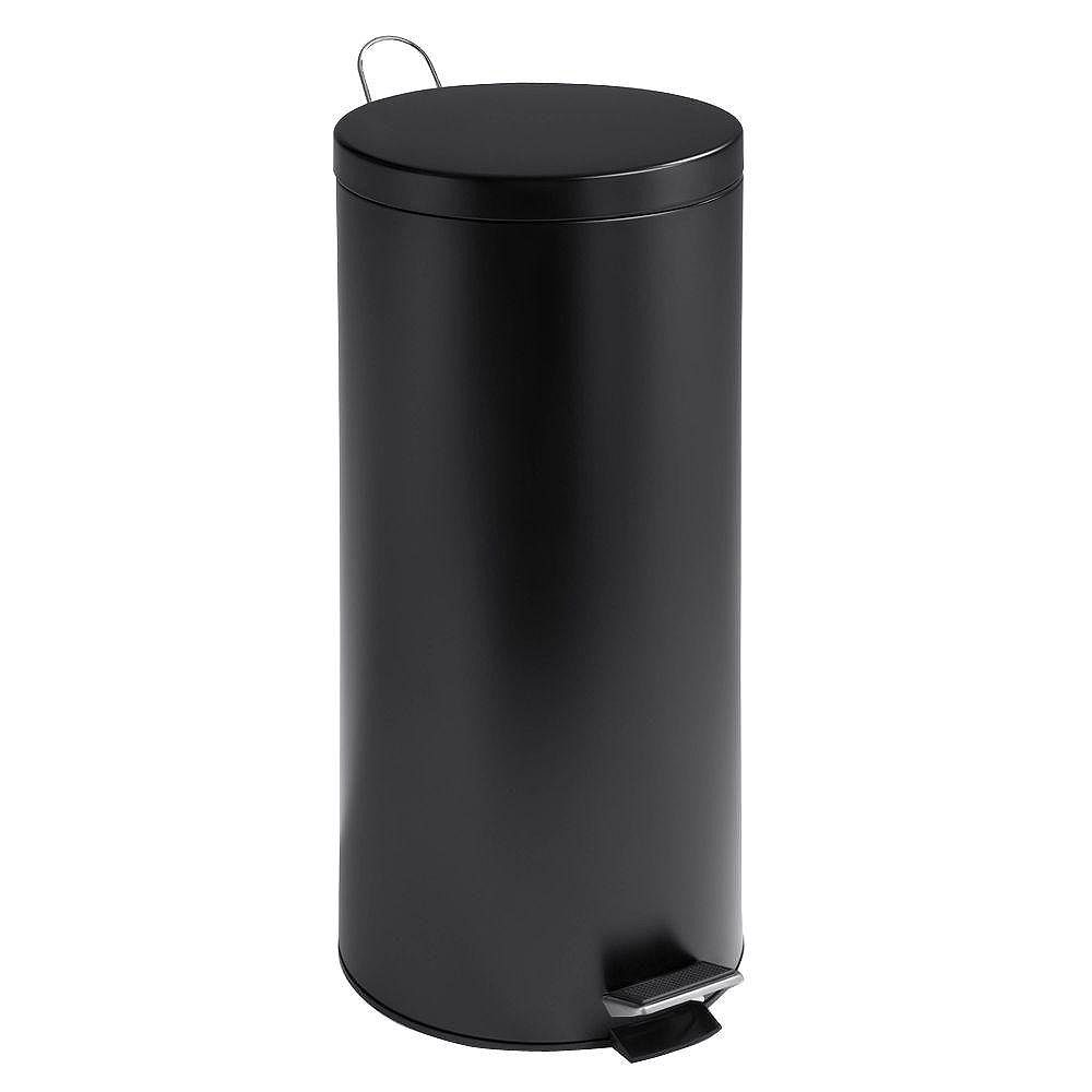 Honey-Can-Do 30L Round Black Matte Can with Bucket