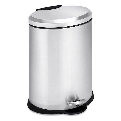 Honey-Can-Do 12L Oval Stainless Steel Step Can