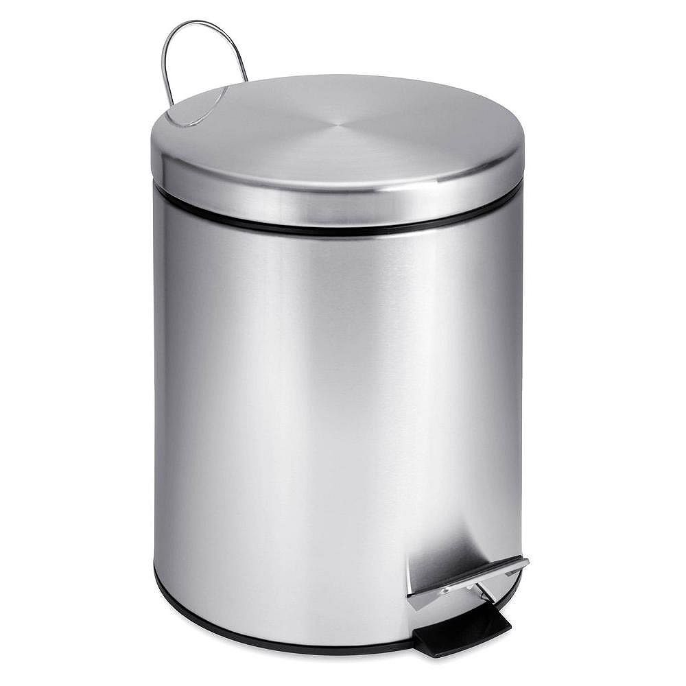 Honey-Can-Do 5L Round Stainless Steel Step Can