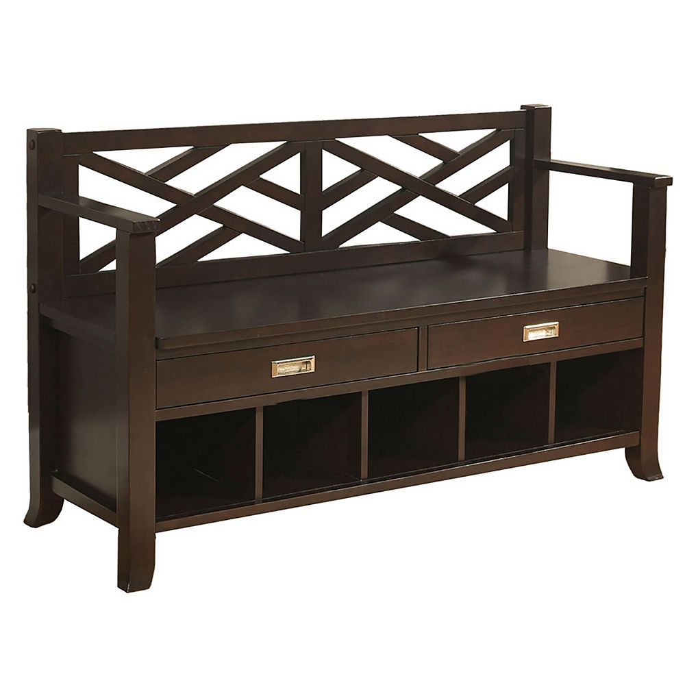 Simpli Home Sea Mills Collection Entryway Bench