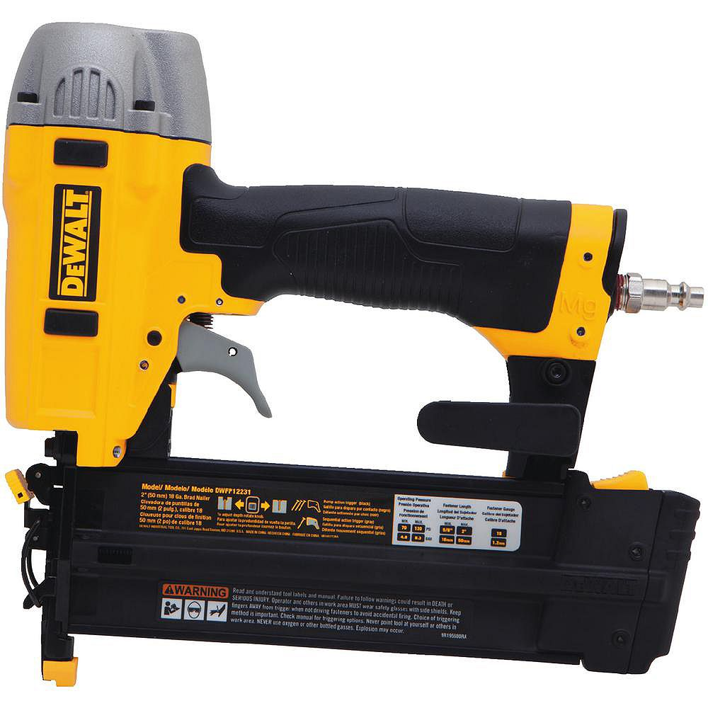 DEWALT 18-Gauge Pneumatic 2-inch Brad Nailer Kit