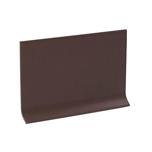 Rubber mur Plinthe - Rouleau De 100 Pied - Brune